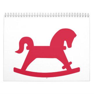 Red rocking horse calendar
