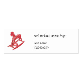 Red Rocking Horse small Business Card