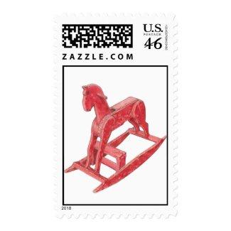 Red Rocking Horse Stamp stamp