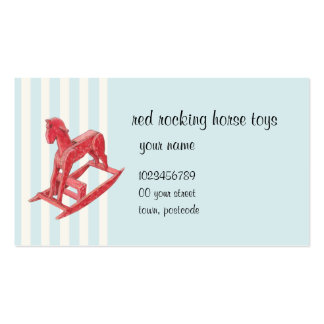 Red Rocking Horse stripes Business Card