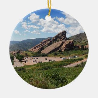 red rocks ampitheatre in Morrison Colorado Ceramic Ornament