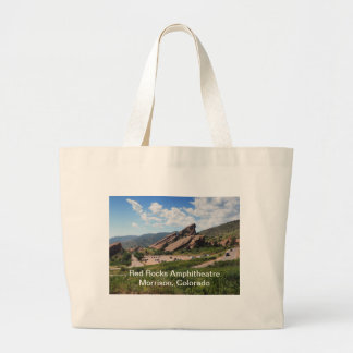 red rocks ampitheatre in Morrison Colorado Large Tote Bag