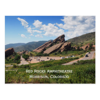 red rocks ampitheatre in Morrison Colorado Postcard