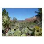 Red Rocks and Cacti I in Sedona Arizona Card