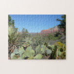 Red Rocks and Cacti I in Sedona Arizona Jigsaw Puzzle