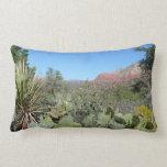 Red Rocks and Cacti I in Sedona Arizona Lumbar Pillow