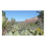 Red Rocks and Cacti I in Sedona Arizona Rectangular Sticker