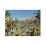 Red Rocks and Cacti I in Sedona Arizona Wood Poster