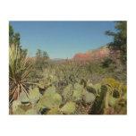 Red Rocks and Cacti I in Sedona Arizona Wood Wall Art