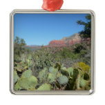 Red Rocks and Cacti I Metal Ornament