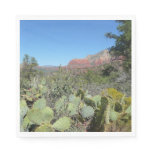 Red Rocks and Cacti I Paper Napkin