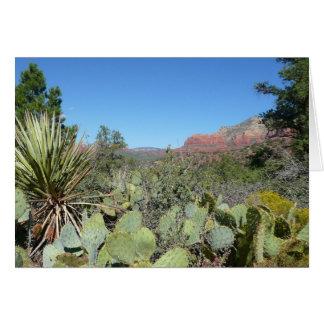 Red Rocks and Cacti I Sedona Arizona Travel Photo Card