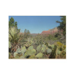 Red Rocks and Cacti I Wood Poster