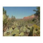 Red Rocks and Cacti I Wood Wall Art