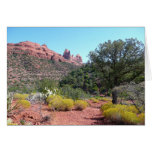 Red Rocks and Cacti II in Sedona Arizona Card