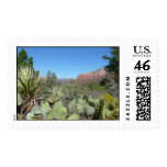 Red Rocks and Cacti Nature Photography Postage Sta