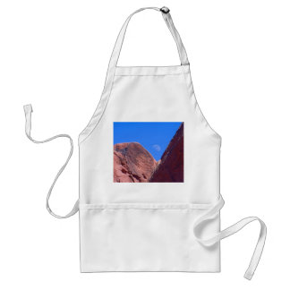 Red Rocks and Moon 01 Adult Apron