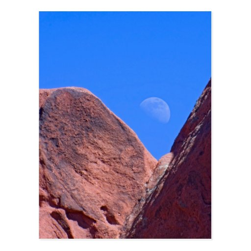 Red Rocks and Moon 01 Postcard