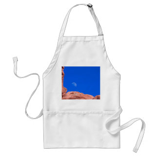Red Rocks and Moon 02 Adult Apron
