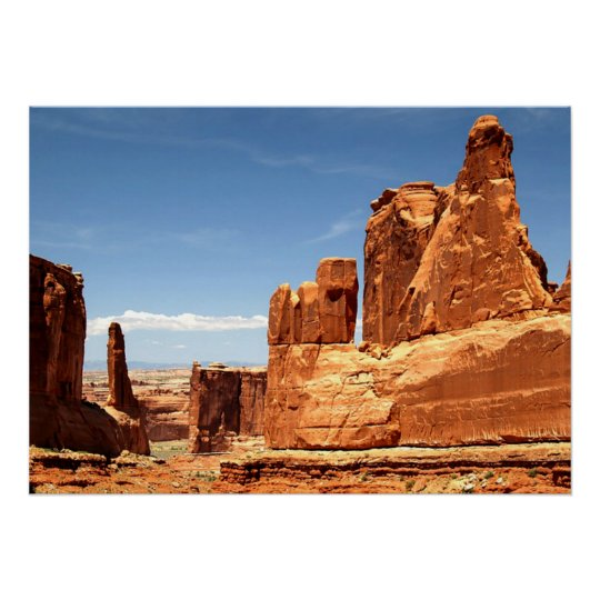 Red Rocks At Arches National Park Poster