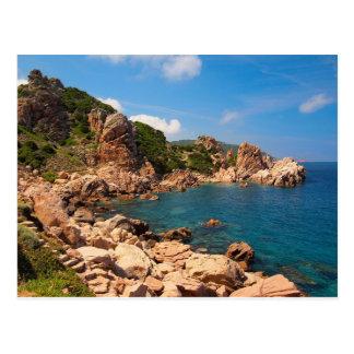Red rocks at the coast of Sardinia Postcard