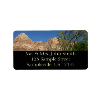 Red Rocks at Zion National Park Photography Label