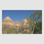 Red Rocks at Zion National Park Rectangular Sticker
