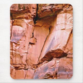 RED ROCKS DETAIL IN UTAH'S HIGH DESERT MOUSE PAD