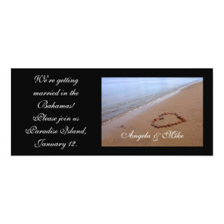 Red Rocks Heart in the Sand Invitations