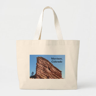 red rocks in Morrison, Colorado Large Tote Bag