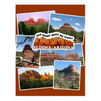 Red Rocks make me happy! Postcard