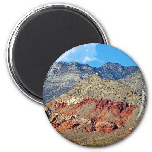 Red Rocks Nevada 2 Inch Round Magnet