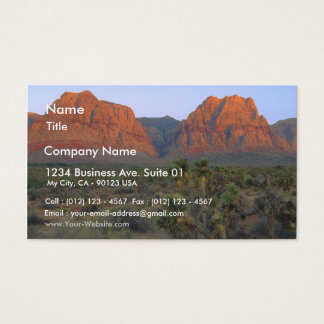 Red Rocks Right At Sunrise Business Card