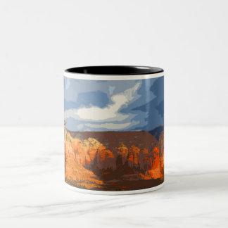 Red Rocks Two-Tone Coffee Mug