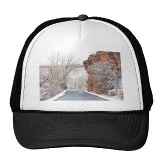 Red Rocks Winter Landscape Drive Trucker Hat