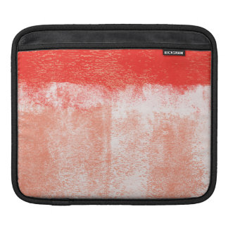 Red rolled paint ipad sleeve