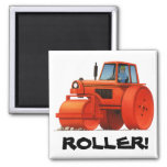 Red Roller Refrigerator Magnet