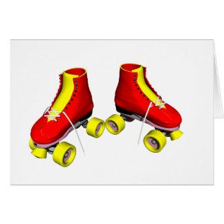 Red Roller Skates Greeting Card