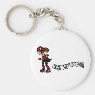 Red Rollerderby jammer Keychain