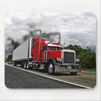 Red & Rollin' Peterbilt Mousepad