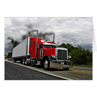 Red & Rollin' Peterbilt Note Card