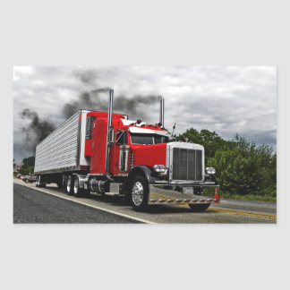 Red & Rollin' Peterbilt Stickers