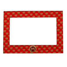 Red Roman Monogram Magnetic Photo Frame
