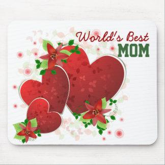 Red Romance Hearts Mousepad