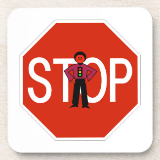 Red Ron Stop Sign Beverage Coaster