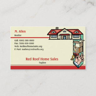 Red roof business cards zazzle red roof home sales business card colourmoves