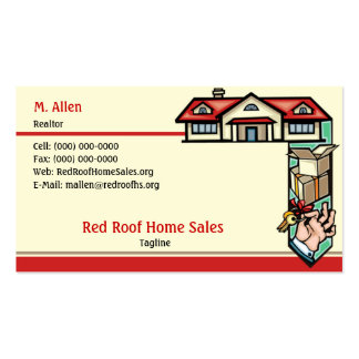 Red Roof Home Sales Double-Sided Standard Business Cards (Pack Of 100)
