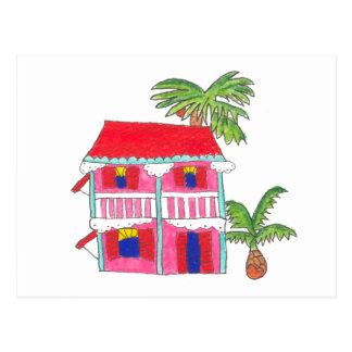 Red Roof House Postcard
