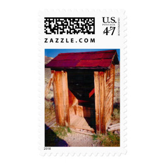 Red Roof Nevada Outhouse USPS Stamp