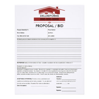 Red Roof Proposal Form Letterhead
